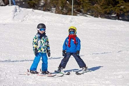 Enfants à ski