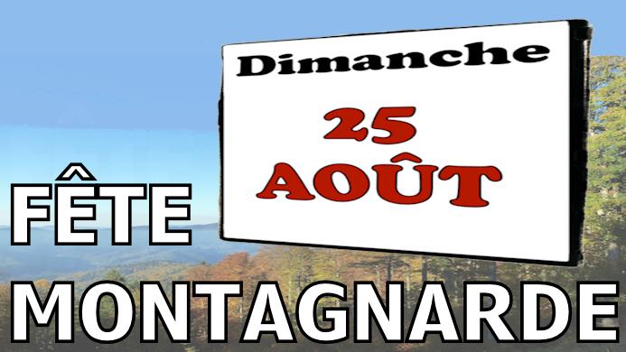 Affiche Fête Montagnarde
